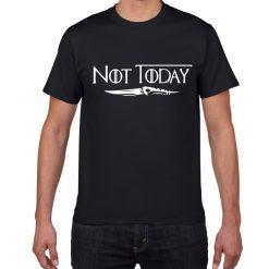 NOT TODAY ARYA STARK GAME OF THRONES T Shirt Faceless Men t shirt House Stark cotton 1