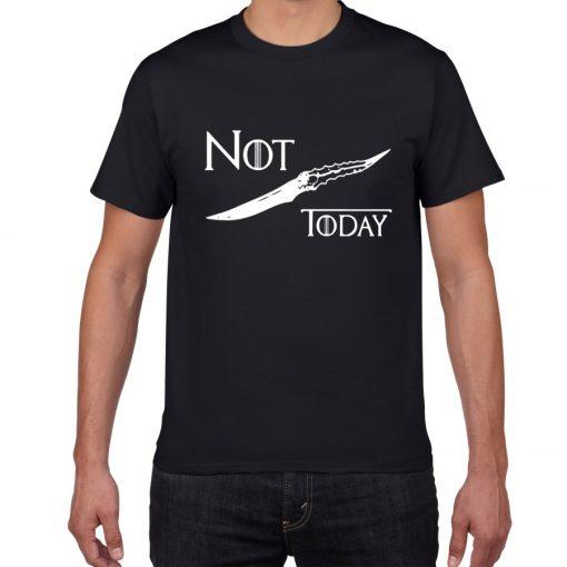 NOT TODAY ARYA STARK GAME OF THRONES T Shirt Faceless Men t shirt House Stark cotton 4