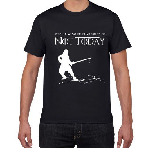 NOT TODAY ARYA STARK GAME OF THRONES T Shirt Faceless Men t shirt House Stark cotton 5