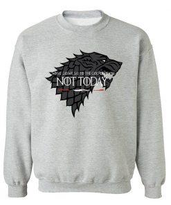 NOT TODAY Sweatshirt Men Game Of Thrones Hoodie Stark Wolf Men s Sweatshirts 2019 Autumn Winter 1