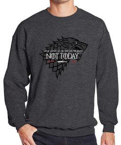 NOT TODAY Sweatshirt Men Game Of Thrones Hoodie Stark Wolf Men s Sweatshirts 2019 Autumn Winter 3