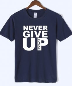 Never Give Up T shirt Salah Barcelona 4 0 Tee Fan Football T shirt Premium Quality