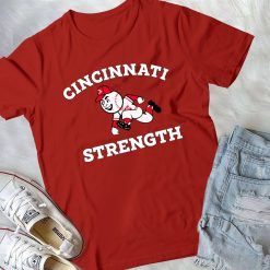 New CINCINNATI STRENGTH T Shirt Full Size red 4