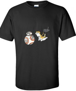 New Coming Mens Top T shirts Star Wars Cat And BB8 Game New Tshirts Slim Fit