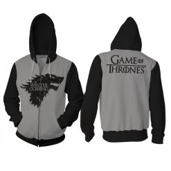 New Game of Thrones Direwolf Men Hoodies women Sweatshirts 3D Print Hooded Top Quality Plus size