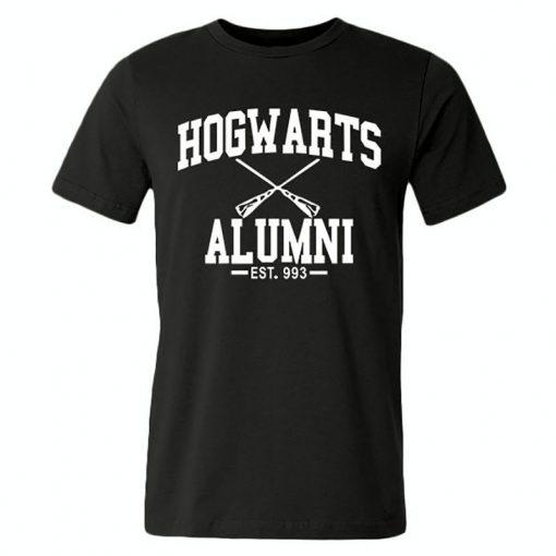 New Novelty Design Hogwarts Alumni T Shirt Men Women Harry Funny Potter T shirts Short Sleeve 1