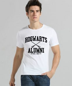 New Novelty Design Hogwarts Alumni T Shirt Men Women Harry Funny Potter T shirts Short Sleeve 2