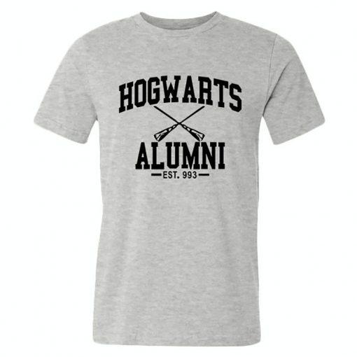 New Novelty Design Hogwarts Alumni T Shirt Men Women Harry Funny Potter T shirts Short Sleeve