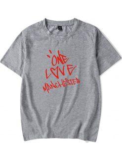 New One Love Manchester Fashion Hip Hop Men Women T Shirts Casual Tee Shirt Short Sleeve 2