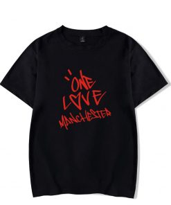 New One Love Manchester Fashion Hip Hop Men Women T Shirts Casual Tee Shirt Short Sleeve