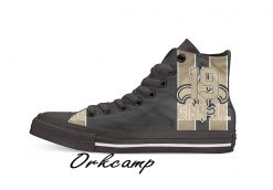 New Orleans Football Player Ginn Jr High Top Canvas Shoes Custom Walking shoes