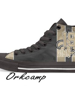 New Orleans Football Player Ginn Jr High Top Canvas Shoes Custom Walking shoes
