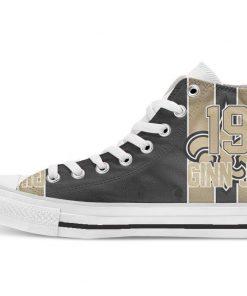 New Orleans Football Player Jordan High Top Canvas Shoes Custom Walking shoes 1