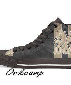 New Orleans Football Player Jordan High Top Canvas Shoes Custom Walking shoes