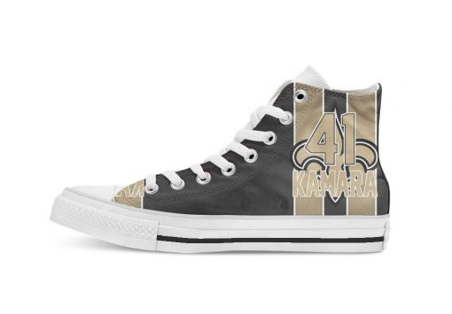 New Orleans Football Player Kamara High Top Canvas Shoes Custom Walking shoes 1