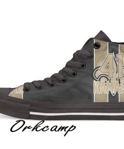 New Orleans Football Player Kamara High Top Canvas Shoes Custom Walking shoes