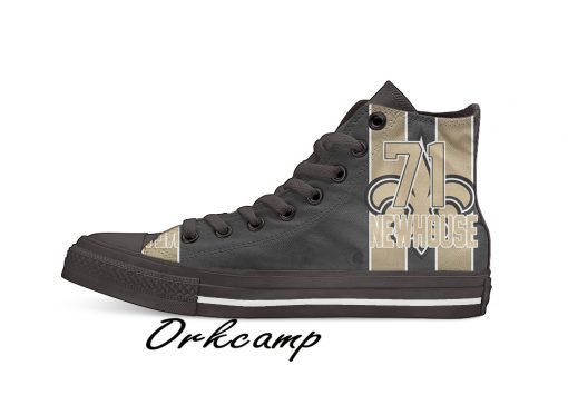 New Orleans Football Player Newhouse High Top Canvas Shoes Custom Walking shoes
