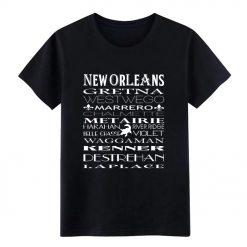 New Orleans NOLA MEN t shirt Custom cotton O Neck streetwear Anti Wrinkle Authentic Spring Autumn