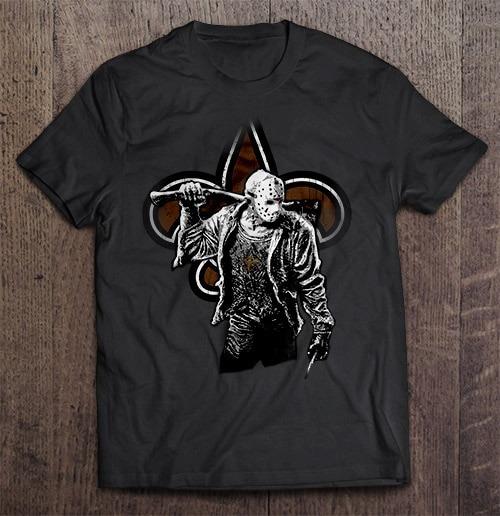 New Streetwear Harajuku Orleans 100 Cotton Men S Tshirt Saints Friday The 13Th Tshirts