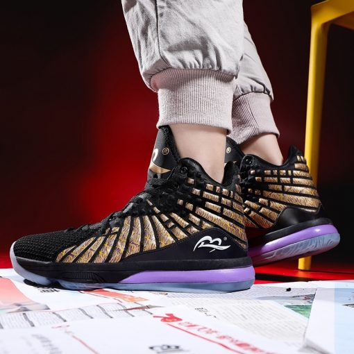New Style Basketball Shoes Men Cushioning High Top Gym Training Boots Ankle Boots Outdoor Men Sneakers 4