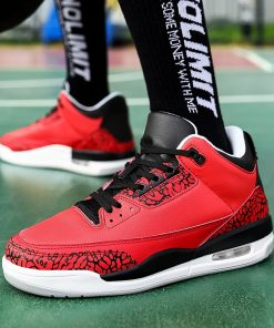 New Style Basketball Shoes Men Lightweight Outdoor Basketball Sneakers Men Cushioning Retro Jordan Ankle Boots Basket 3