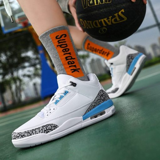 New Style Basketball Shoes Men Lightweight Outdoor Basketball Sneakers Men Cushioning Retro Jordan Ankle Boots Basket 4