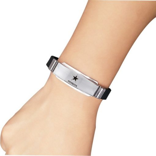 New Style Dallas Cowboy Team Bracelet Football Logo Stainless Steel Silicone Bracelet Fans Team 1