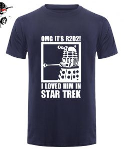 New Summer Funny Tee OMG It s R2D2 Dalek Star Wars Dr Who Trek Cotton T 1