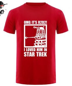New Summer Funny Tee OMG It s R2D2 Dalek Star Wars Dr Who Trek Cotton T 2