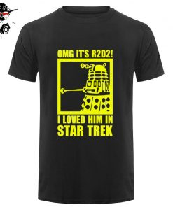 New Summer Funny Tee OMG It s R2D2 Dalek Star Wars Dr Who Trek Cotton T 4