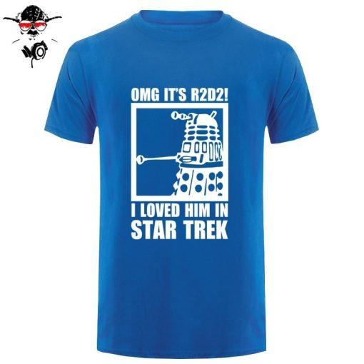 New Summer Funny Tee OMG It s R2D2 Dalek Star Wars Dr Who Trek Cotton T 5