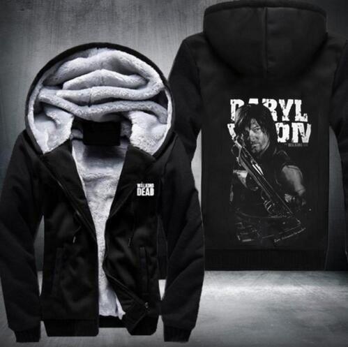 New THE WALKING DEAD Sweatshirts Hoodies Velvet Coat Hot Sale fast shi