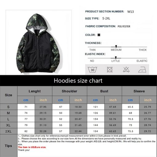 New TV The Walking Dead Camouflage Hoodie Sweatshirts Winter Thicken Hooded Coat Cosplay Warm Men Clothing 2