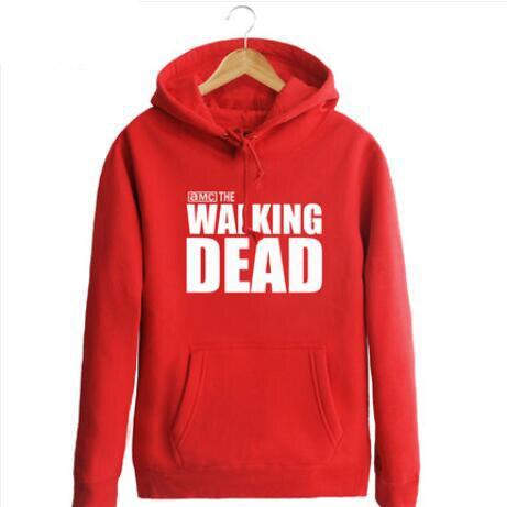 New The walking dead Hoodie Fear the living Hooded Men Casual cotton Fall Winter warm Sweatshirts 2