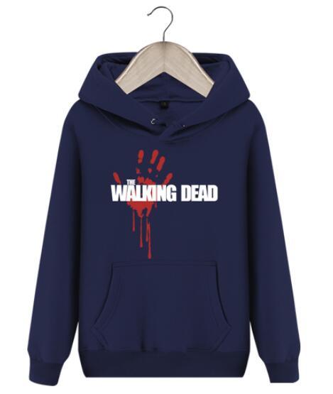 New The walking dead Hoodie Fear the living Hooded Men Casual cotton Fall Winter warm Sweatshirts