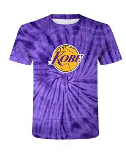 New fashion kobe Bryant logo Los Angeles lakers 3D printed high quality short sleeve hip hop