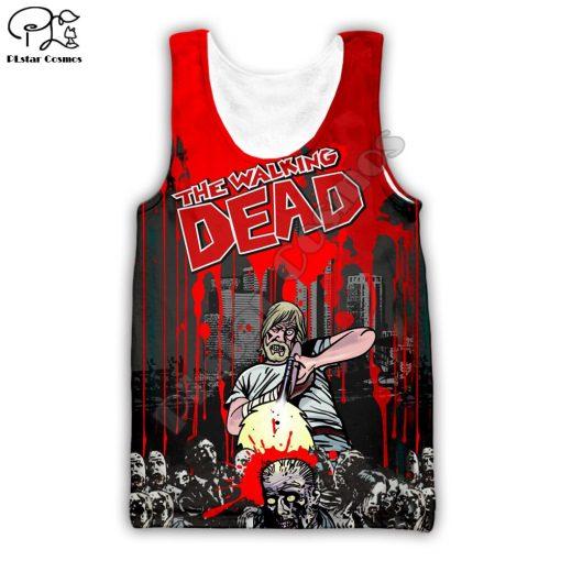 Newest Hot sell TV Drama The Walking Dead Men Women Sweatshirt 3D Print Hoodie Long Sleeve 1