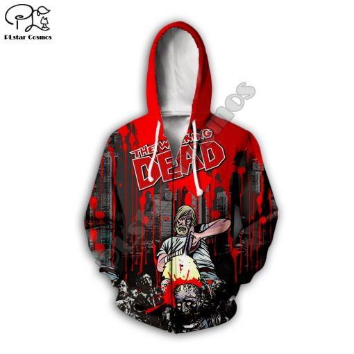 Newest Hot sell TV Drama The Walking Dead Men Women Sweatshirt 3D Print Hoodie Long Sleeve 3