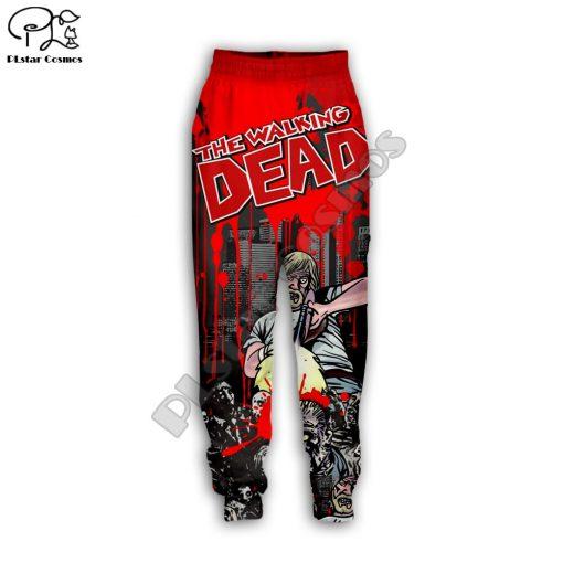 Newest Hot sell TV Drama The Walking Dead Men Women Sweatshirt 3D Print Hoodie Long Sleeve 5