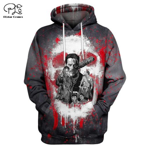 Newest Hot sell TV Drama The Walking Dead Men Women Sweatshirt 3D Print Hoodie Long Sleeve 6