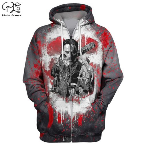 Newest Hot sell TV Drama The Walking Dead Men Women Sweatshirt 3D Print Hoodie Long Sleeve 8
