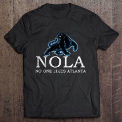Nola No One Likes Atlanta Carolina Streetwear Harajuku 100 Cotton Men S Tshirt Panthers Tshirts