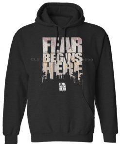 OFFICIAL Fear The Walking Dead Logo Fear Begins Here Mens Unisex Womens Winter Hoodies Sweatshirts Free