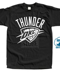 Okc Black T Shirt Fan Oklahoma City Russell Thunder All Sizes S 3Xl Harajuku Tops T