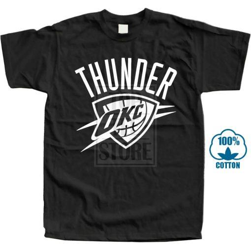 Okc Black T Shirt Fan Oklahoma City Russell Thunder All Sizes S 3Xl Harajuku Tops T