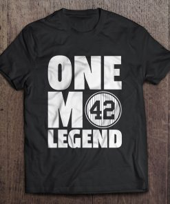 One Mo Legend 42 Baseball New Streetwear Harajuku York 100 Cotton Men S Tshirt Yankees Tshirts