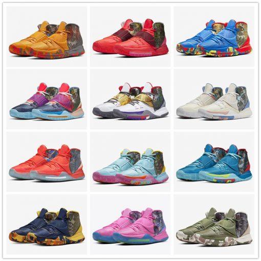 Original Authentic Men Kyries 6 Pre Heat Designer Sneaker Kyries 6 NYC Miami Houston Heal The