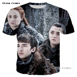 PLstar Cosmos brand Game of Thrones Laianna 3D fashion printing T shirt men and women neutral 2