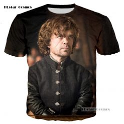 PLstar Cosmos brand Game of Thrones Laianna 3D fashion printing T shirt men and women neutral 3
