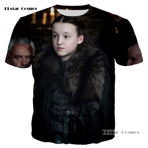 PLstar Cosmos brand Game of Thrones Laianna 3D fashion printing T shirt men and women neutral